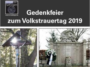 Gedenkfeier Volkstrauertag 2019 @ Söflinger Friedhof Aussegnungshalle